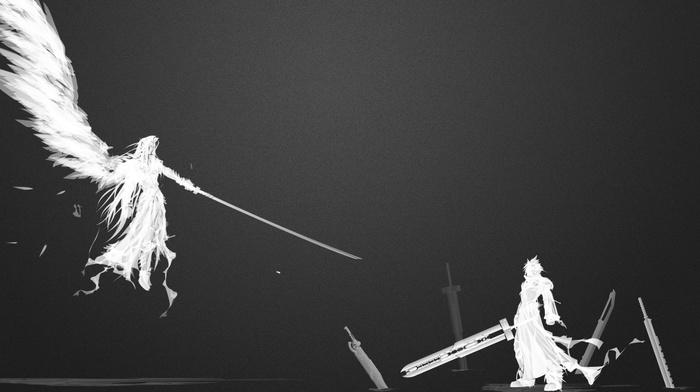 Cloud Strife, Final Fantasy VII, fantasy art, Sephiroth