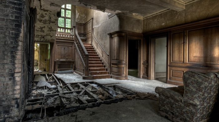 abandoned, building, interiors, ruin