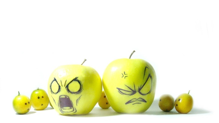 fruit, humor, apples