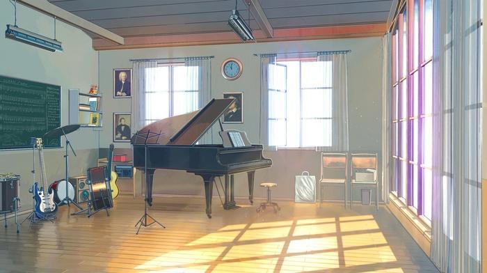 Everlasting Summer, ArseniXC, sunlight, drums, piano, guitar, musical instrument, clocks