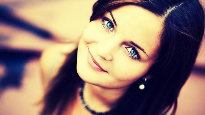 голубые глаза, девушка, лицо