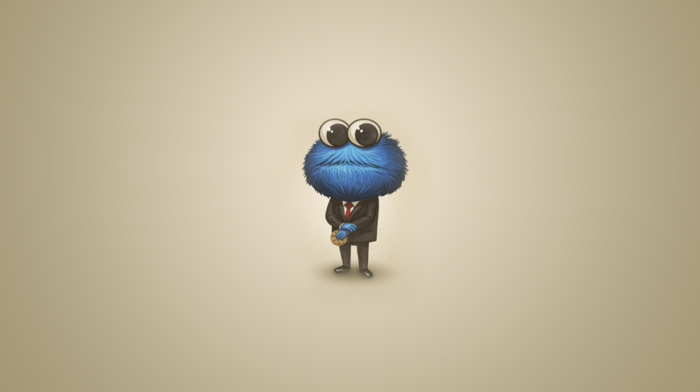 cartoon, suits, Cookie Monster