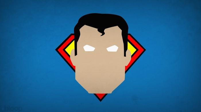 minimalism, Blo0p, Superman, superhero