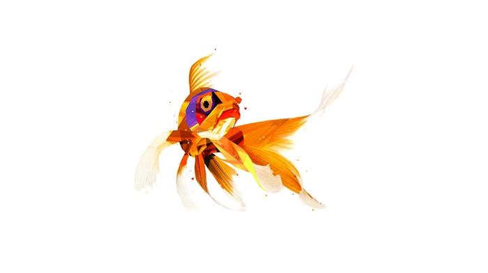 Justin Maller, рыба, цифровое искусство, животные