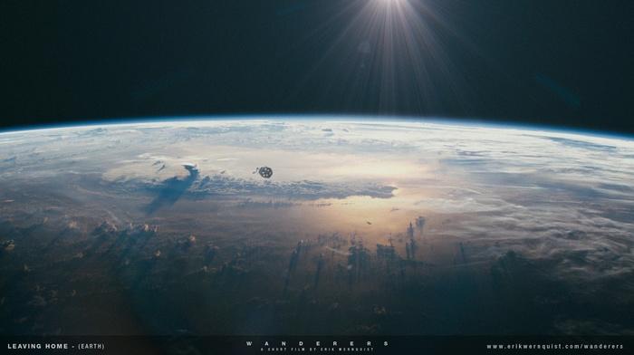 космос, планета, природа, луна, галактика, пейзаж
