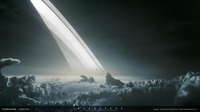 планета, пейзаж, галактика, природа, космос, луна