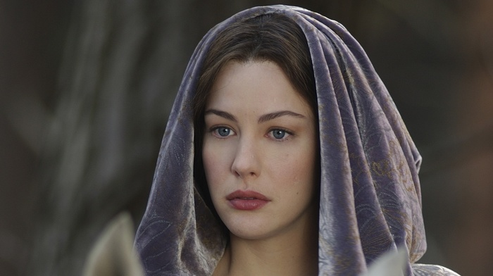 The Lord of the Rings, blue eyes, Arwen, girl, elves, Liv Tyler