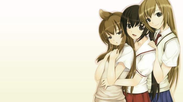 девушки из аниме, школьницы, аниме