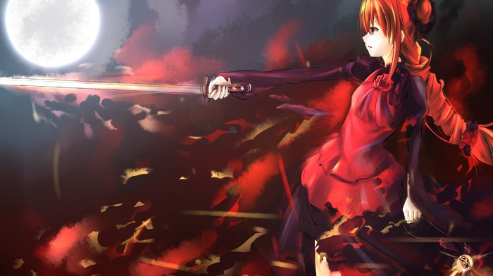 anime girls, anime, sword, Shakugan no Shana, katana