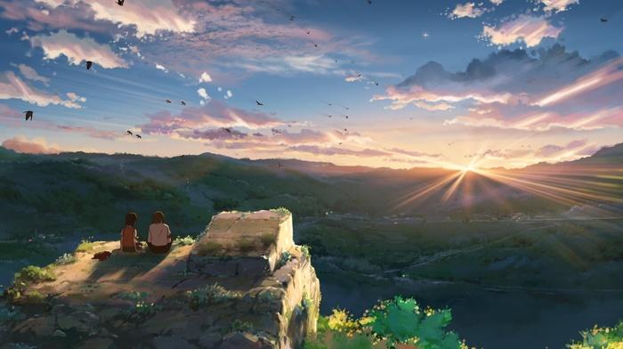 закат, аниме