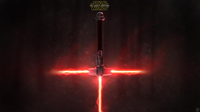 red, Star Wars, lightsaber, Star Wars Episode VII, The Force Awakens, Sith