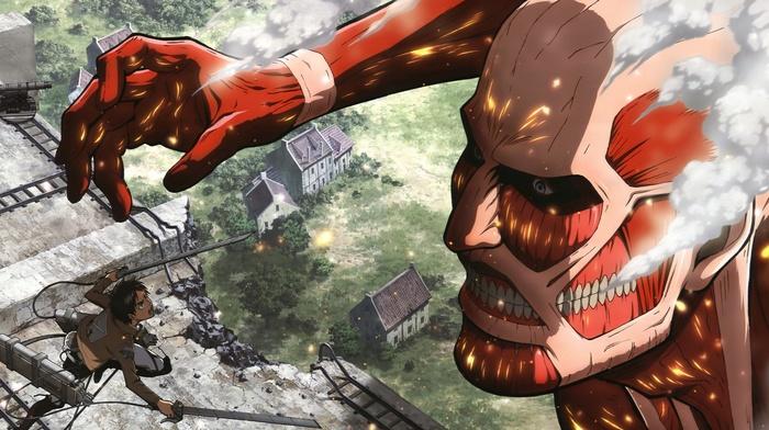 Colossal Titan, anime, Shingeki no Kyojin