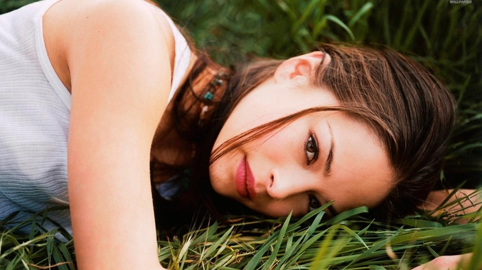 green eyes, girl, Kristin Kreuk, actress, brunette