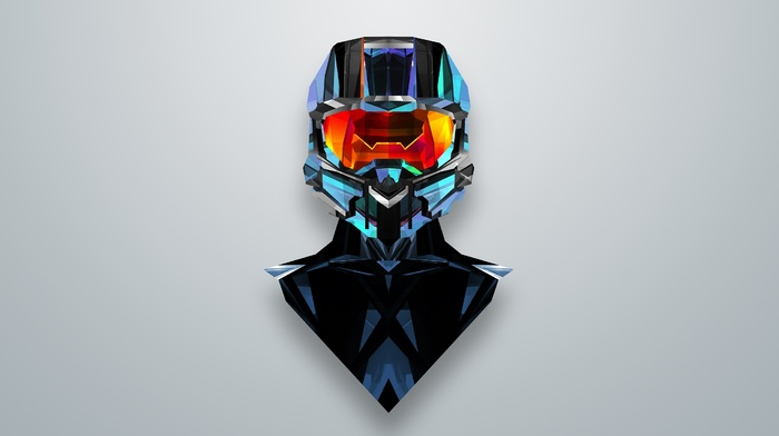 Master Chief, абстрактные, Justin Maller, Halo