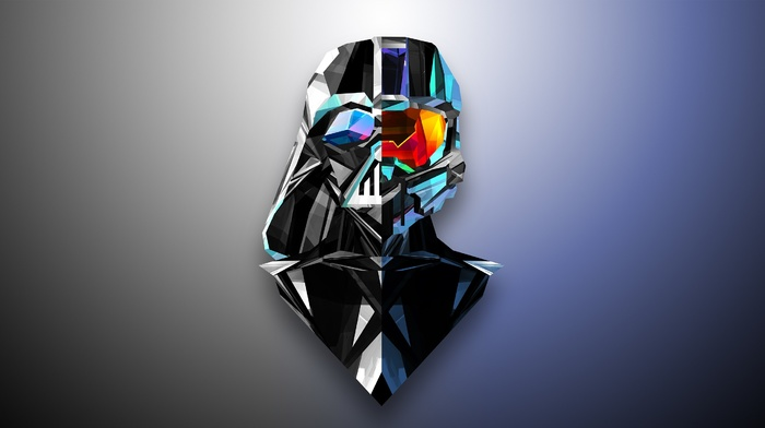 Justin Maller, abstract, low poly, Halo, Darth Vader, Master Chief