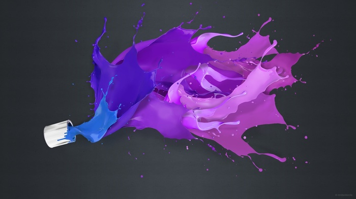 простой фон, брызги краска