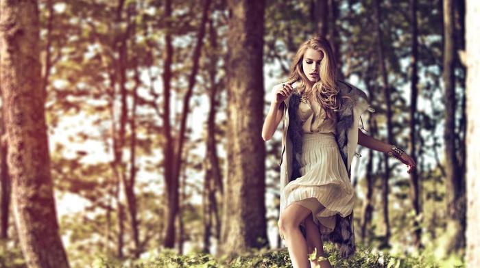 nature, girl, blonde