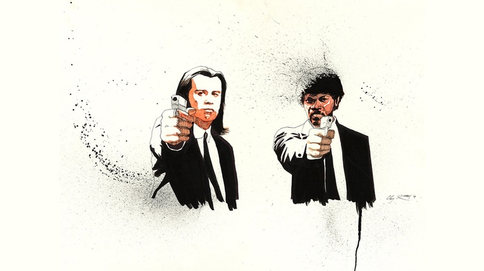 fan art, samuel l. jackson, movies, quentin tarantino, Pulp Fiction