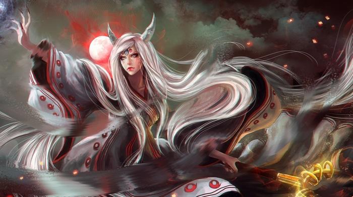 realistic, Naruto Shippuuden, anime, Kaguya, fantasy art, anime girls