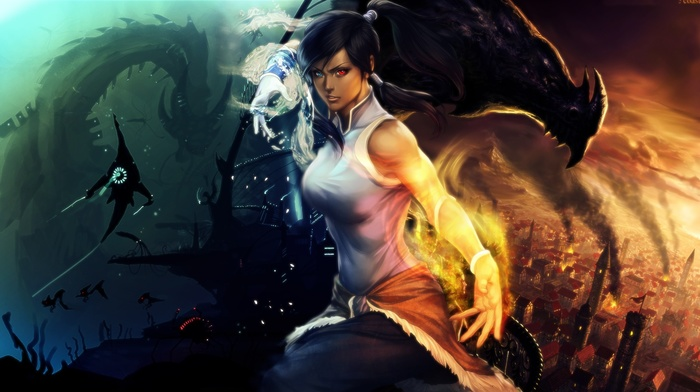 anime girls, fantasy art, anime, The Legend of Korra