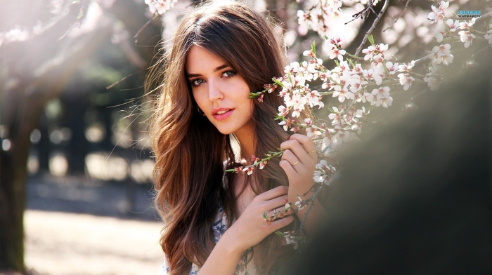 long hair, Clara Alonso, girl, brunette