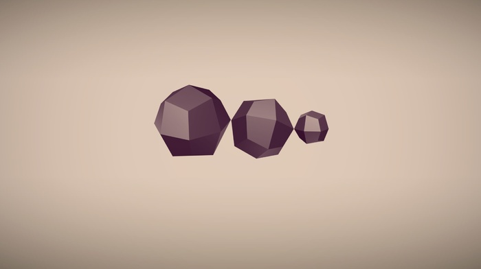 digital art, geometry, simple background, minimalism, 3D, artwork, abstract