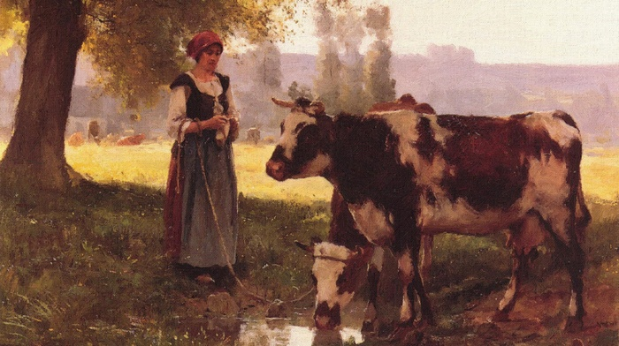 classic art, artwork, painting, farm