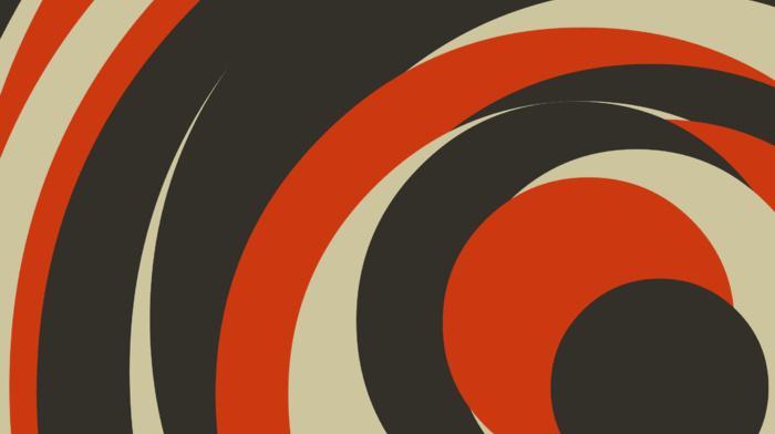 minimalism, orange, circle, brown, digital art, abstract, simple, artwork, geometry
