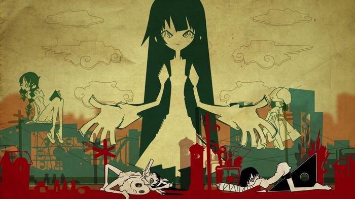 Senjougahara Hitagi, hanekawa tsubasa, monogatari series, Kanbaru Suruga, Hachikuji Mayoi, anime, Sengoku Nadeko, graffiti
