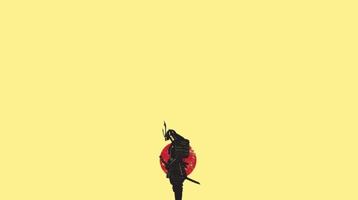 samurai, minimalism, Japan