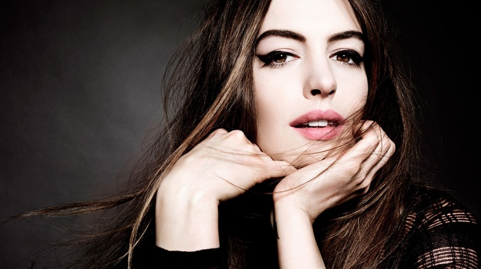 Anne Hathaway, brown eyes, filter, girl, brunette, actress