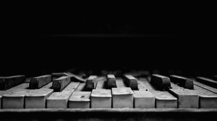 musical instrument, piano, music, dark, macro, dust