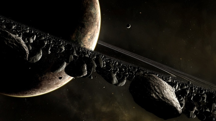planet, asteroid, space