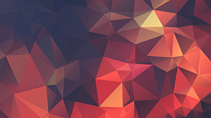geometry, digital art, low poly, artwork, minimalism, abstract, red