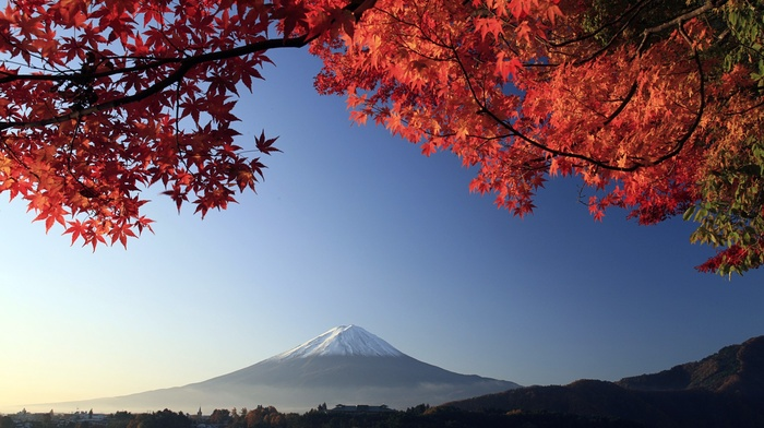 mountain, landscape, Mount Fuji, Japan, nature