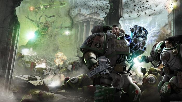 science fiction, Horus Heresy, artwork, futuristic, space marines, warhammer 40, 000, digital art