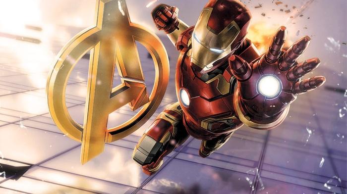 The Avengers, Iron Man, Marvel Comics, Avengers Age of Ultron, superhero, broken glass