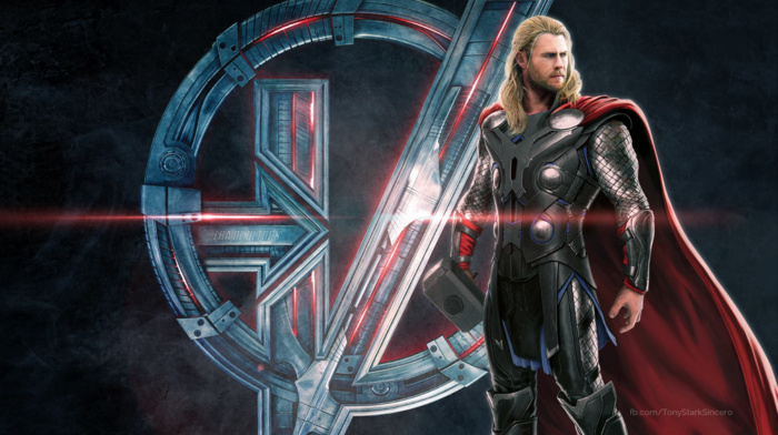 concept art, The Avengers, superhero, Thor, Avengers Age of Ultron, symbols, movies, Chris Hemsworth