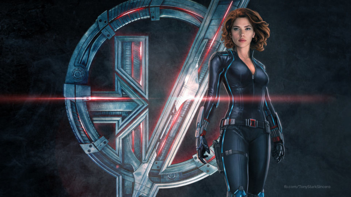 The Avengers, Scarlett Johansson, symbols, superhero, concept art, Black Widow, movies, Avengers Age of Ultron