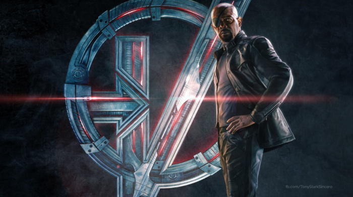 nick fury, concept art, movies, superhero, samuel l. jackson, Avengers Age of Ultron, The Avengers, symbols