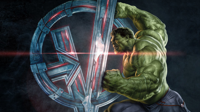 Avengers Age of Ultron, symbols, movies, Hulk, superhero, concept art, The Avengers