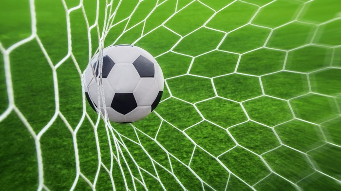 sport, depth of field, Goal, ball, sports, nets, soccer, soccer pitches