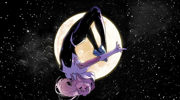 stars, Gwen Stacy, spider, Gwen, Marvel Comics