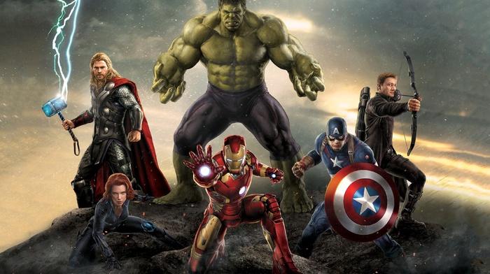 Captain America, Hulk, Iron Man, The Avengers, Black Widow, hawkeye, Thor, Avengers Age of Ultron