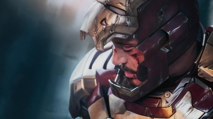 superhero, Robert Downey Jr., digital art, artwork, Tony Stark, fan art, Iron Man