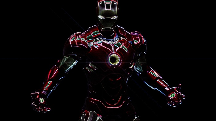 artwork, black background, digital art, superhero, Tony Stark, Robert Downey Jr., Iron Man