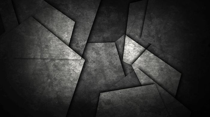 geometry, minimalism, shapes, monochrome, abstract, metal, dark, pattern, triangle