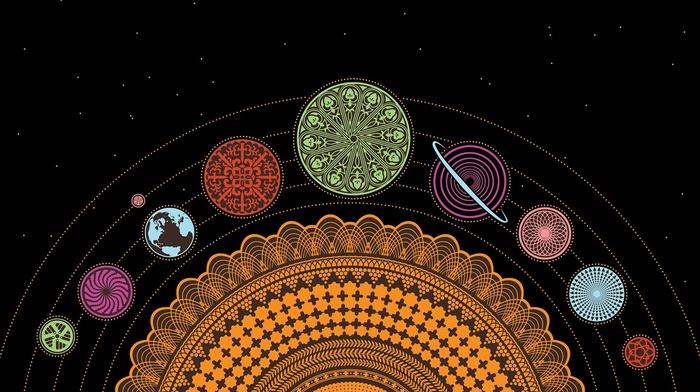 digital art, universe, planet, Earth, Steven Universe, space, black background, stars, Solar System, minimalism, Sun