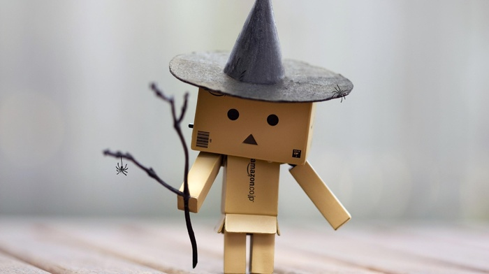 wooden surface, witch, Danbo, twigs