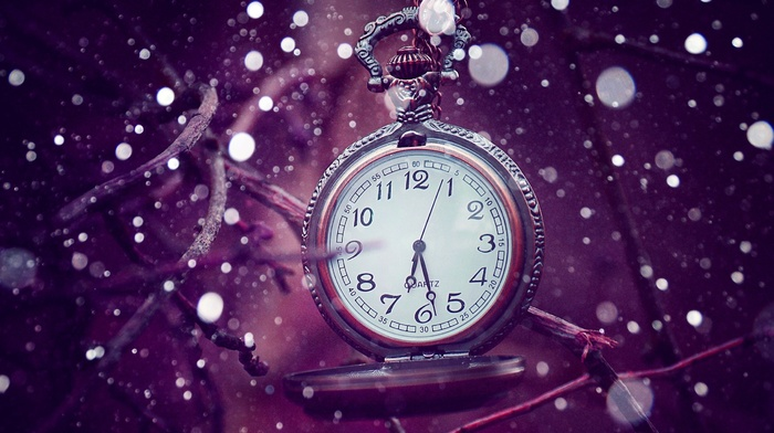 bokeh, twigs, clocks, vintage
